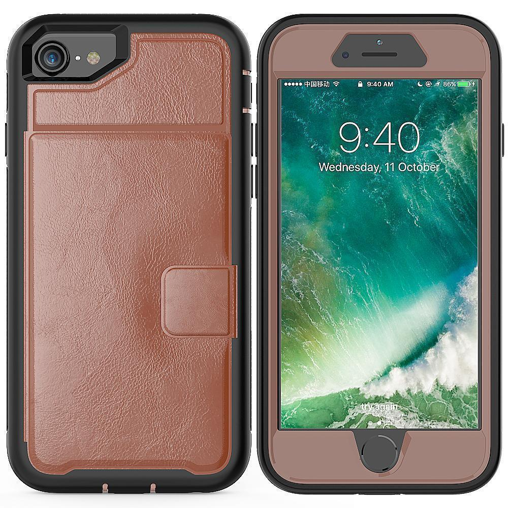 Apple iPhone 8 / iPhone 7 Magnetic Folio Leather Wallet W. Card Slot and Stand Case by Modes