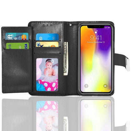 Apple iPhone X MAX (6.5inch) Double Flap Folio Leather Wallet Pouch Case by Modes