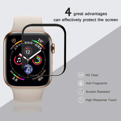 Apple IWatch 44mm 9H 5D Full Coverage Tempered Glass Screen Protector by Modes