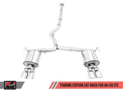 AWE Touring Edition Cat-Back Exhaust | 11-14 Subaru WRX / 11-20 STi Sedan