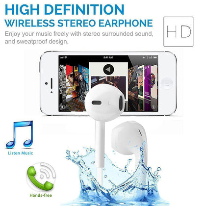 Bluetooth Wireless Hands-free Sweat-proof Sports Earbud Headphones with Multi-function Controls by Modes (White)