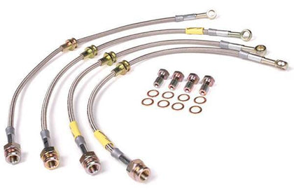 Goodridge G-Stop Stainless Braided Brake Lines Honda Civic EX Coupe w/ Rear Drums - 20016