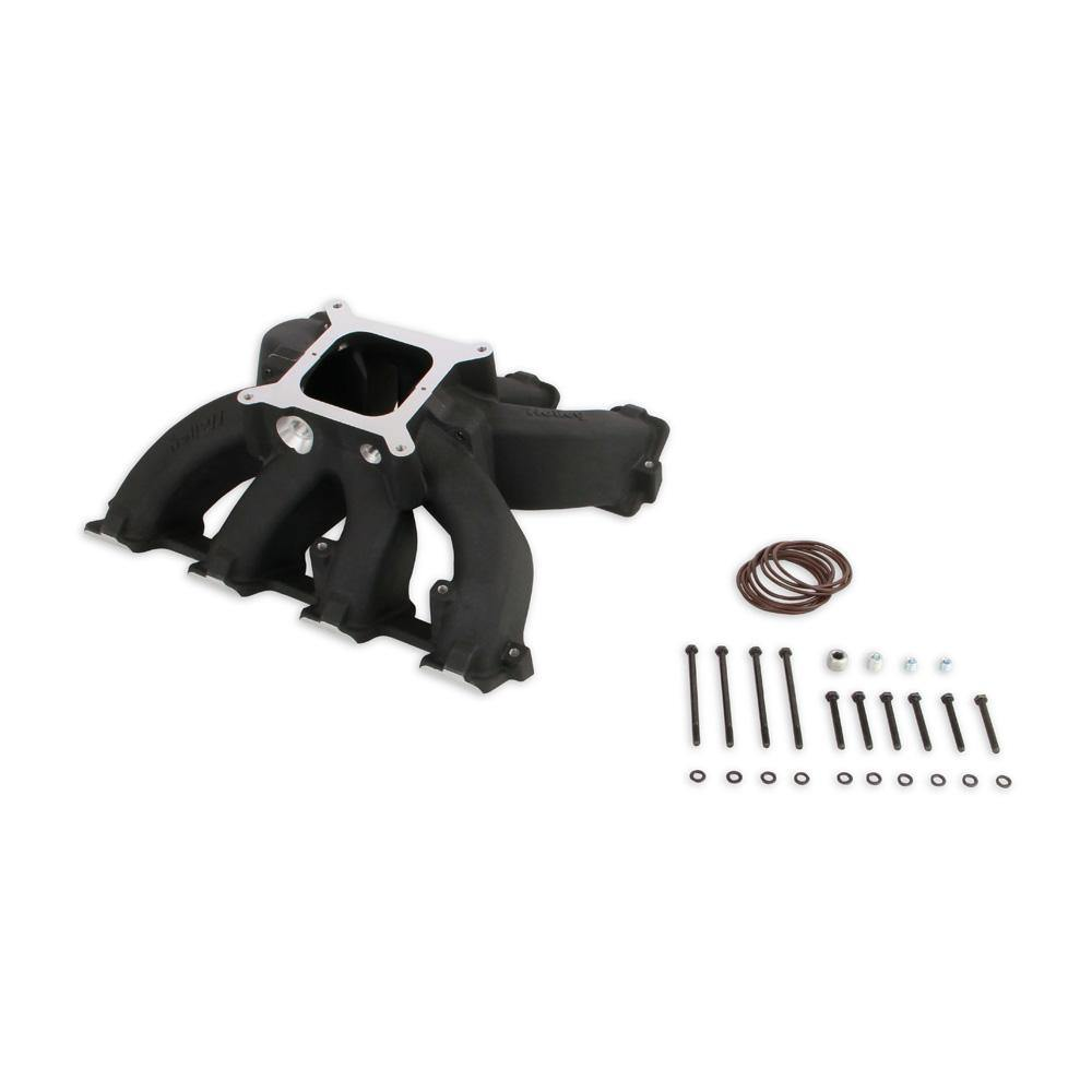 Holley Single Plane Split-Design Race Intake Manifold | GM LS3/L92 Engines (300-291BK) - mobileiGo.com