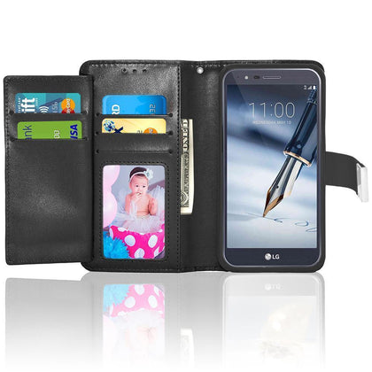 LG Stylo 3 / Stylus 3 / LS777 / Stylo 3 Plus / TP450 Double Flap Folio Leather Wallet Pouch Case by Modes