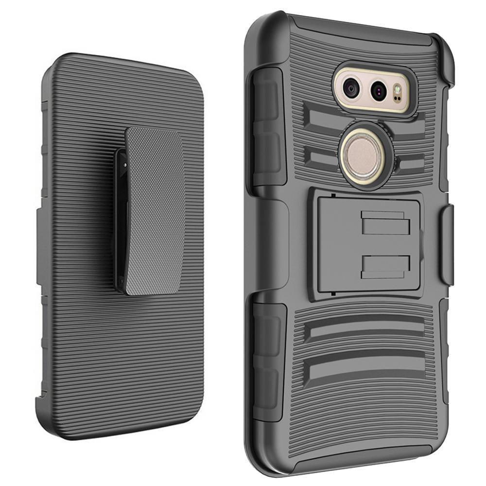 LG V30 Armor Belt Clip Holster Case Black by Modes