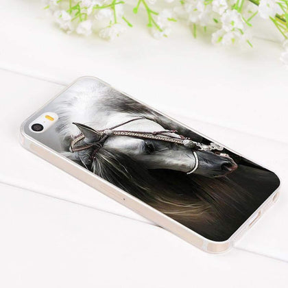 Horse Animal iPhone Slim Case/Cover For iPhone 6 6S Plus 7 7 Plus 5 5S 4 4S Soft Silicone Rubber