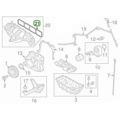 Ford OEM Intake Manifold Gasket | Multiple Ford Fitments (BM5Z-9439-A) - mobileiGo.com