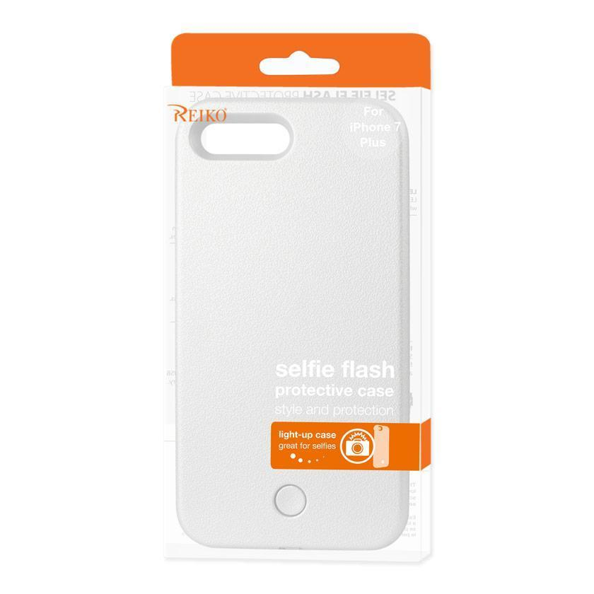Reiko iPhone 7 Plus LED Selfie Light up Illuminated Case (White)
