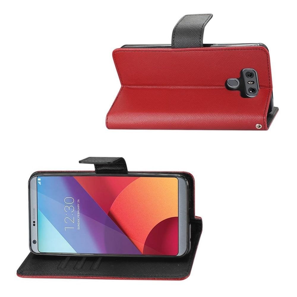 Reiko LG G6 3-in-1 Wallet Case (Red)