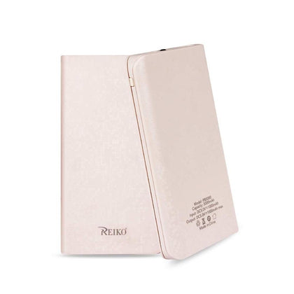 Reiko 5000mAh Universal Power Bank with LED Light (Pink)