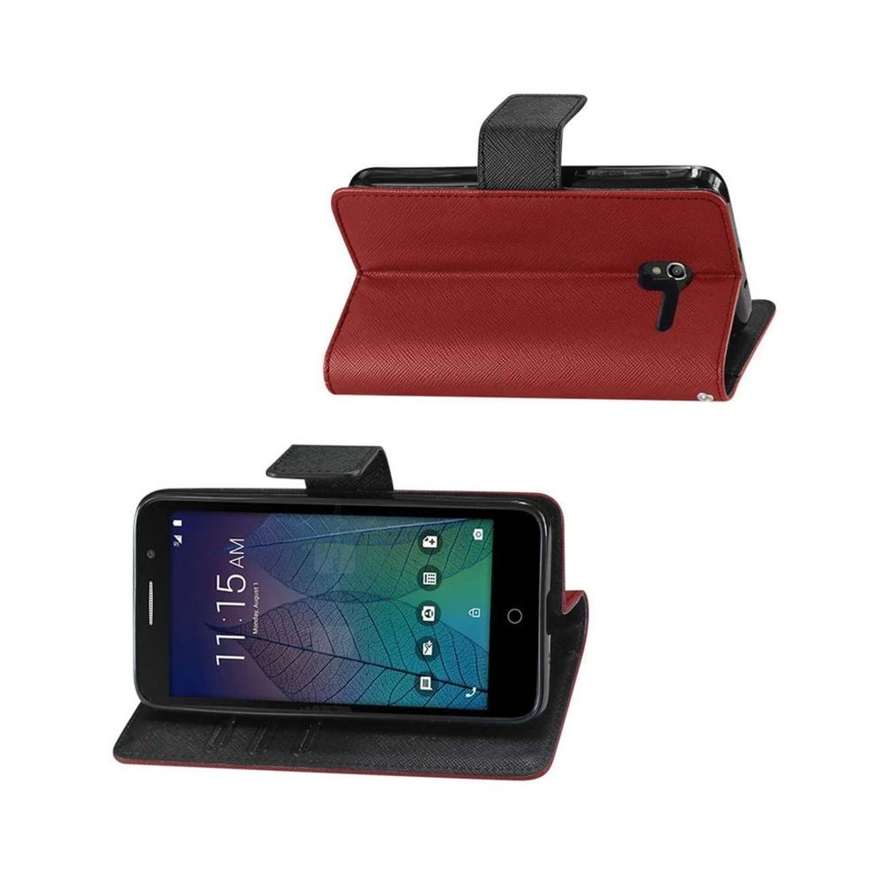 Reiko Alcatel Tru 3-in-1 Wallet Case (Red)