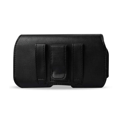 Horizontal Z Lid Leather Pouch iPhone 6 Plus/6s Plus 5.5inch Plus Black Inner Size: 6.62x3.46x0.68 Inch