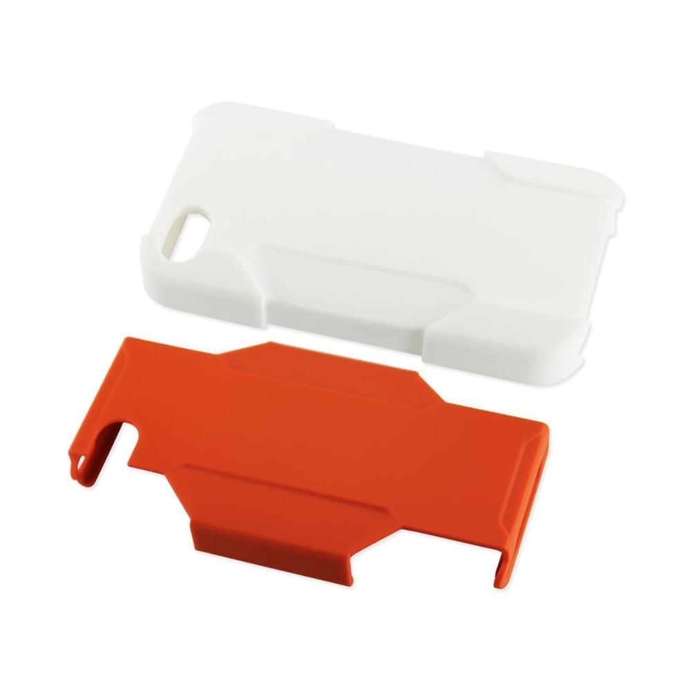 Reiko iPhone 4/4G Hybrid Heavy-duty Holster Combo Case (White) Orange