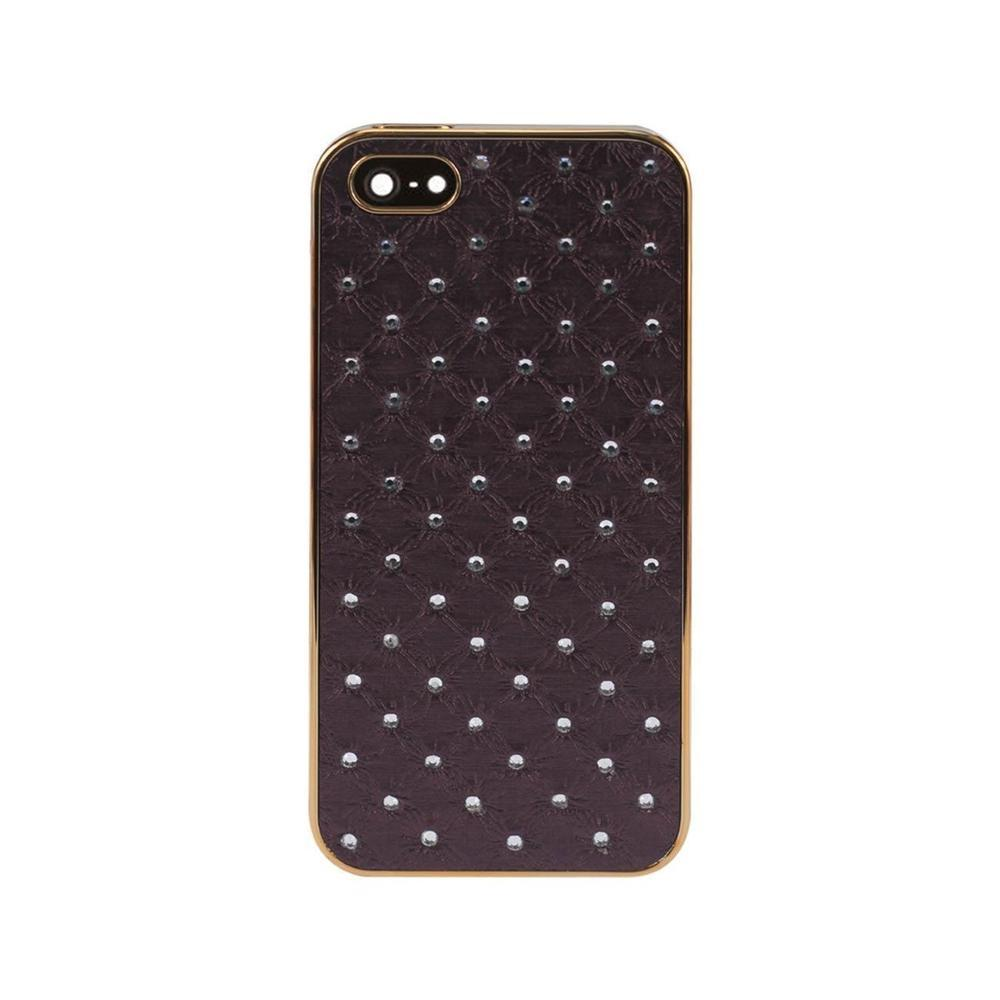Reiko iPhone 5-5s-se Jewelry Diamond Studs Case in Dark Purple