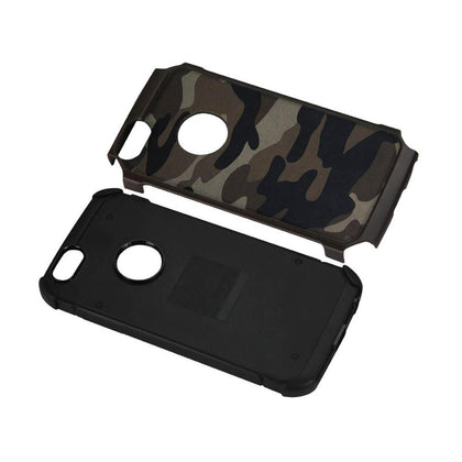 Reiko iPhone 5c Hybrid Leather Camouflage Case (Brown)