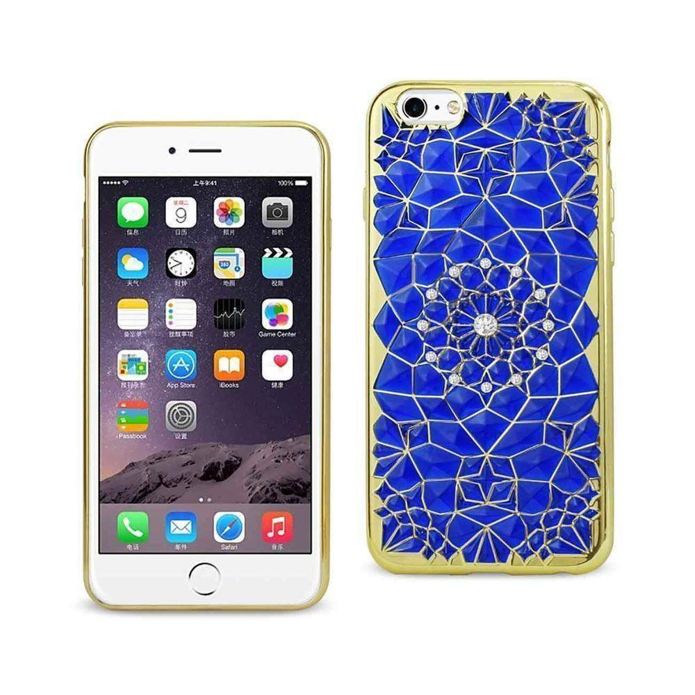 Reiko iPhone 6 Plus/6s Plus Soft TPU Case with Sparkling Diamond Sunflower Design (Clear)