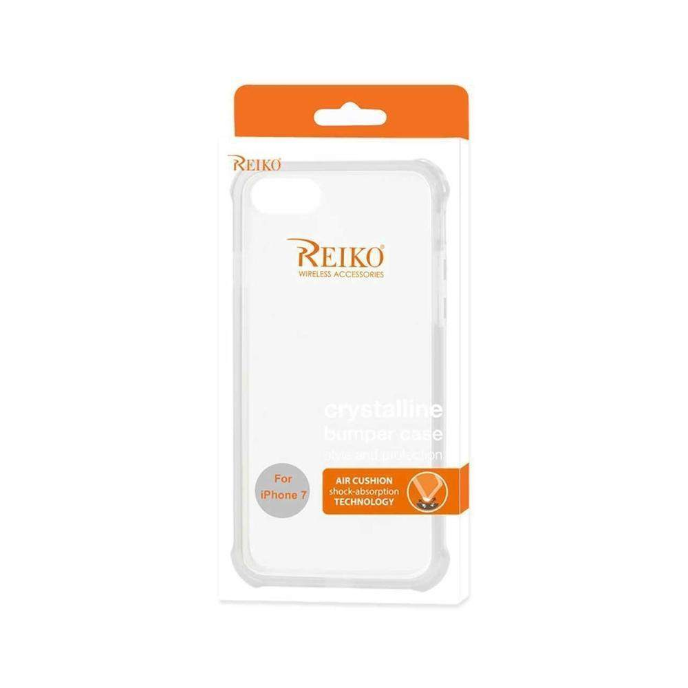 Reiko iPhone 7 Clear Bumper Case with Air Cushion Protection (Clear)