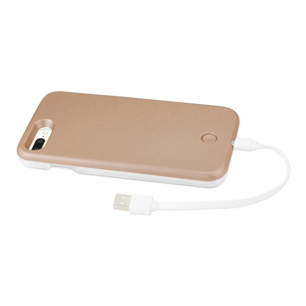 Reiko iPhone 7 Plus LED Selfie Light up Illuminated Case (Rose Gold)