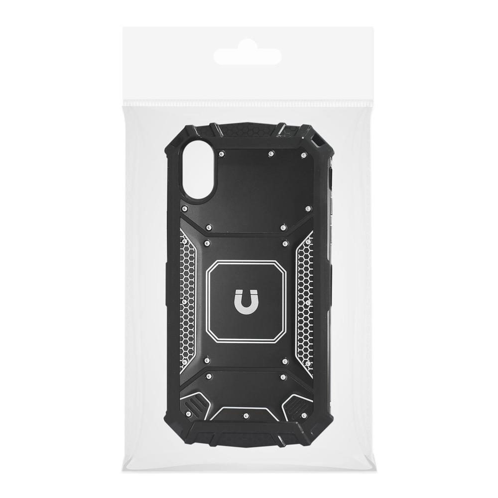 Reiko iPhone X Case with Metallic Front  Cover In Black