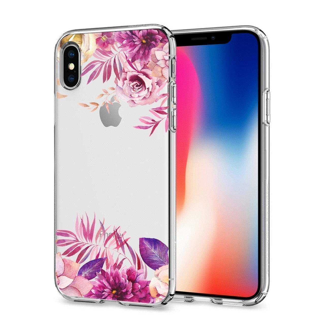 Reiko iPhone X Flower Designer Air Cushion Case In Clear