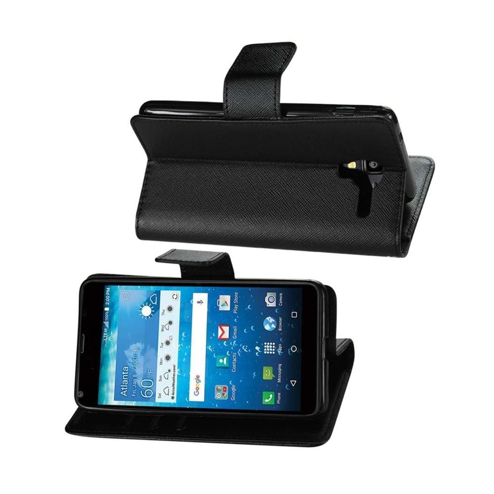 Reiko Kyocera Hydro View 3-in-1 Wallet Case (Black)