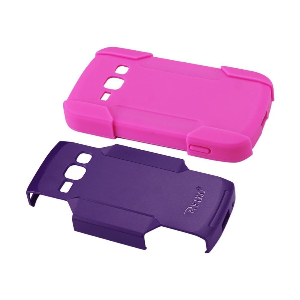 Reiko Samsung Galaxy Ring Hybrid Heavy Duty Case (Hot Pink) Purple