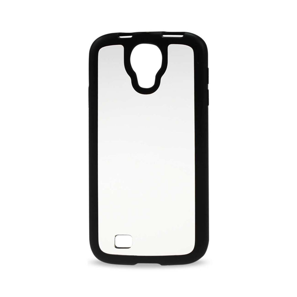 Reiko Samsung Galaxy S4 Frame Case with Clear Back Cover (Black)