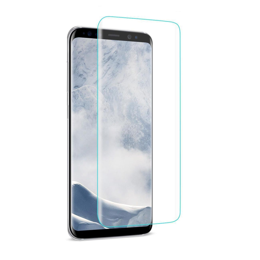 Reiko Samsung Galaxy S8- Sm 3D Curved Full Coverage Tempered Glass Screen Protector (Clear)