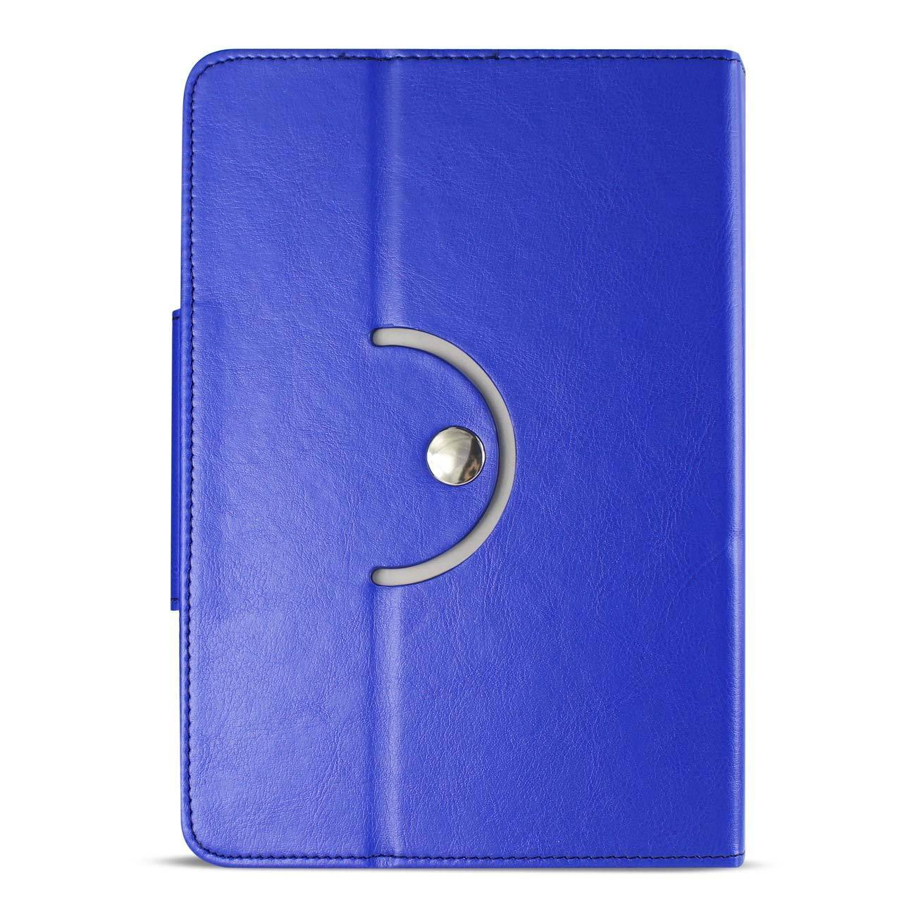 Reiko Universal Ultra Slim Leather Flip Case Cover For 8 Inch iPad Mini Or Android Tablet Pc In Blue