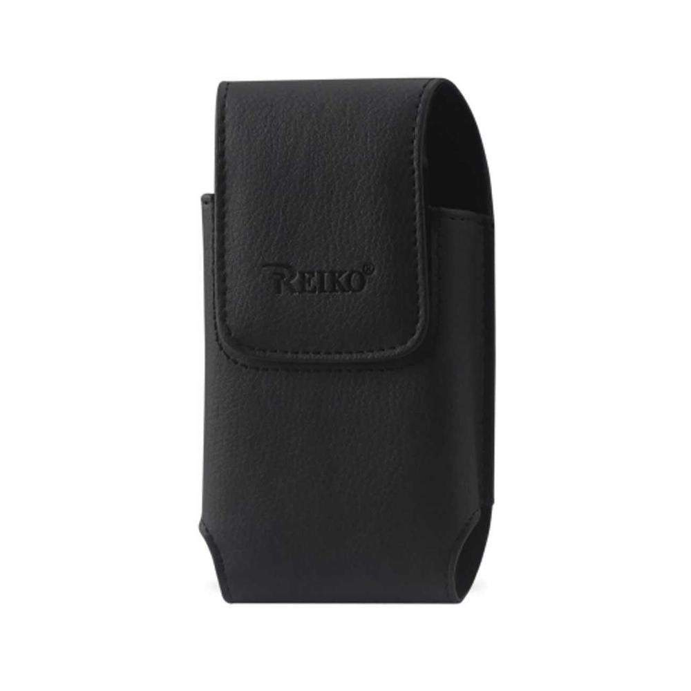 Reiko Vertical Leather Pouch Samsung Galaxy S5 Plus-black with Log Inner Size: 5.99x3.25x0.72inch