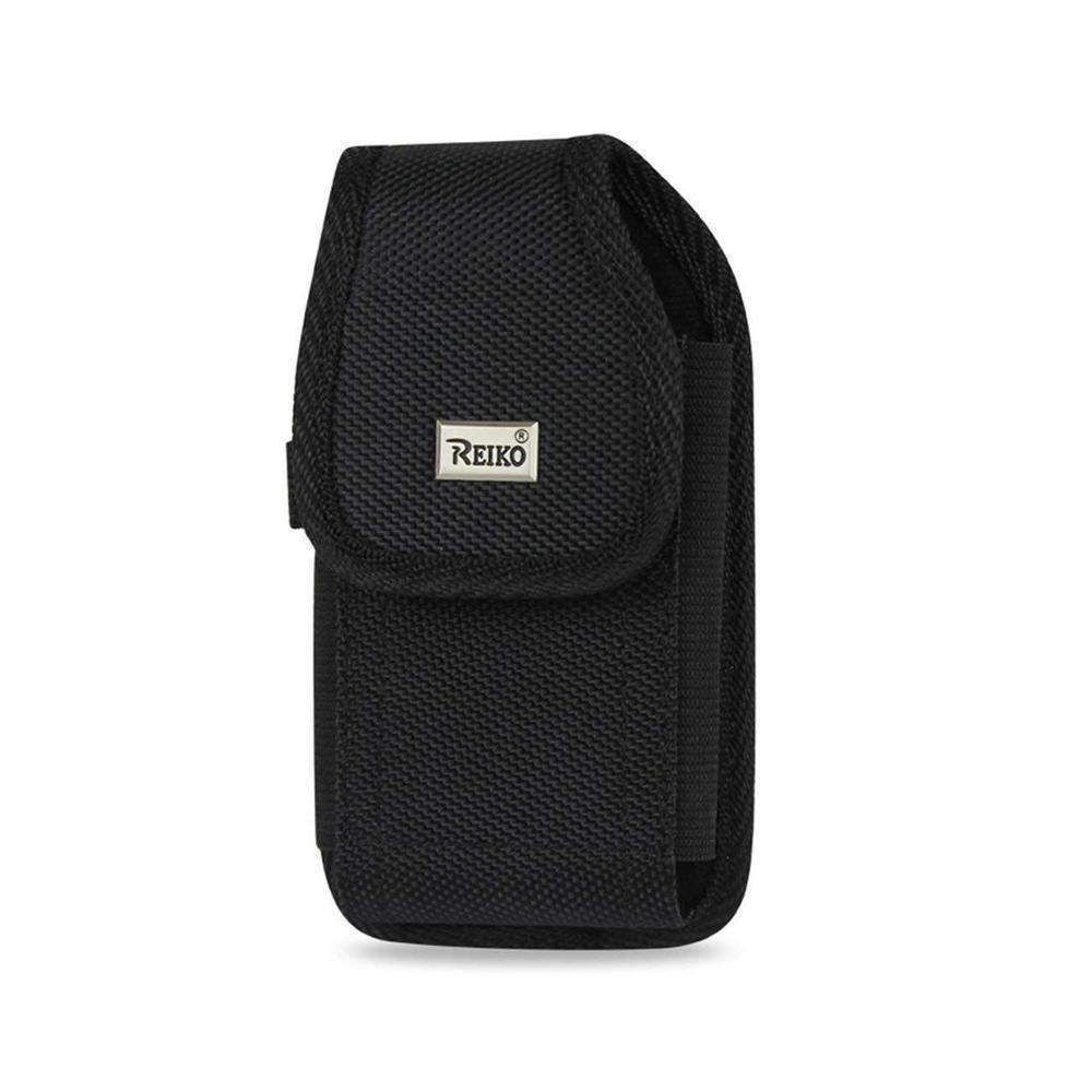Reiko Vertical Rugged Pouch Treo650-black with Metal Belt Clip and Velcro (4.4x2.3x0.9inch)