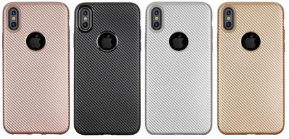 Rose Gold Carbon Fiber Case for iPhone X: Ultra-Slim Anti-slip Case (Carbon Fiber/Rose Gold)