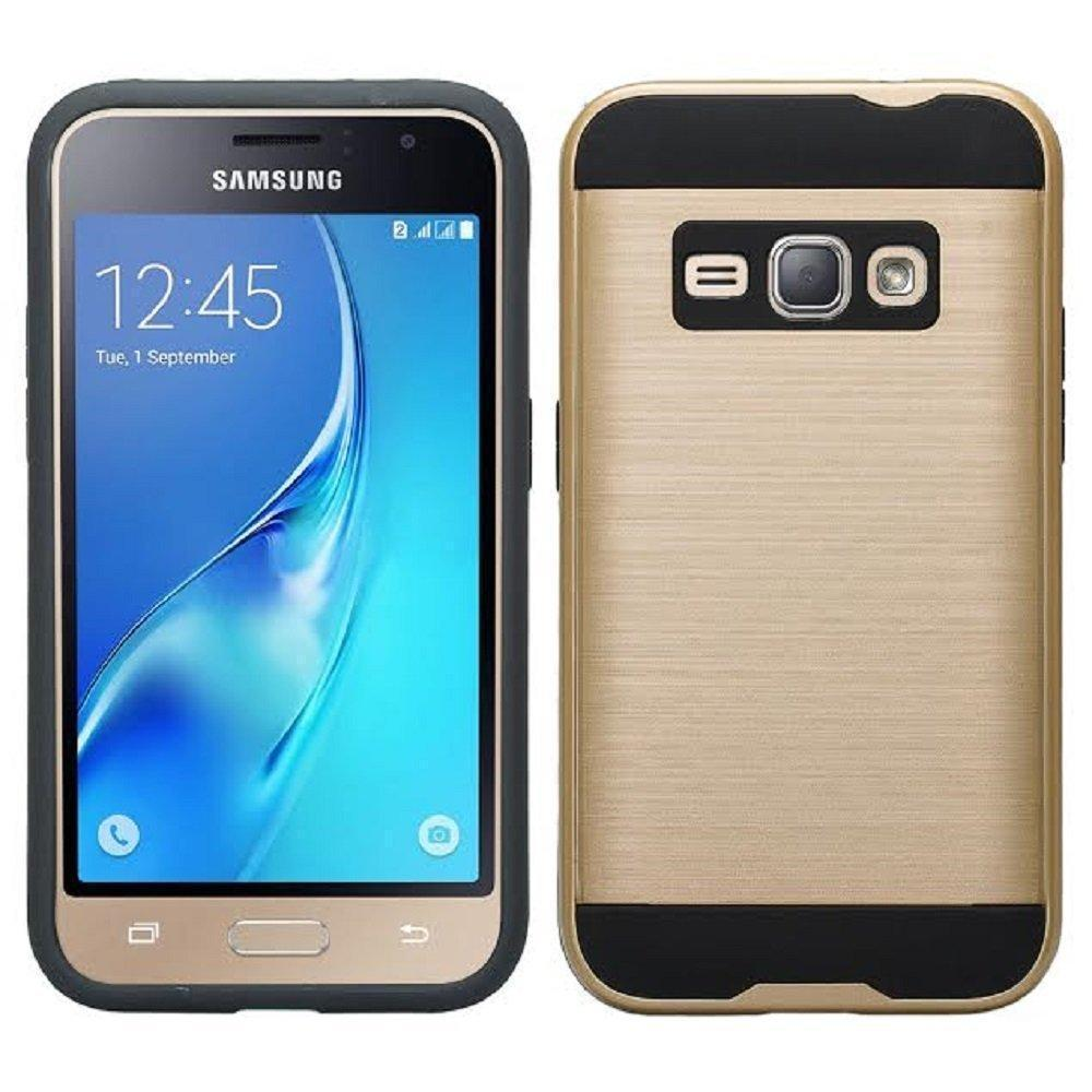 Samsung Galaxy J1 2016 / AMP2 Hybrid Brushed Metal Shockproof Tough Case by Modes