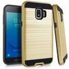Samsung Galaxy J2 Core 2018 / J260 Hybrid Brushed Metal Shockproof Tough Case by Modes