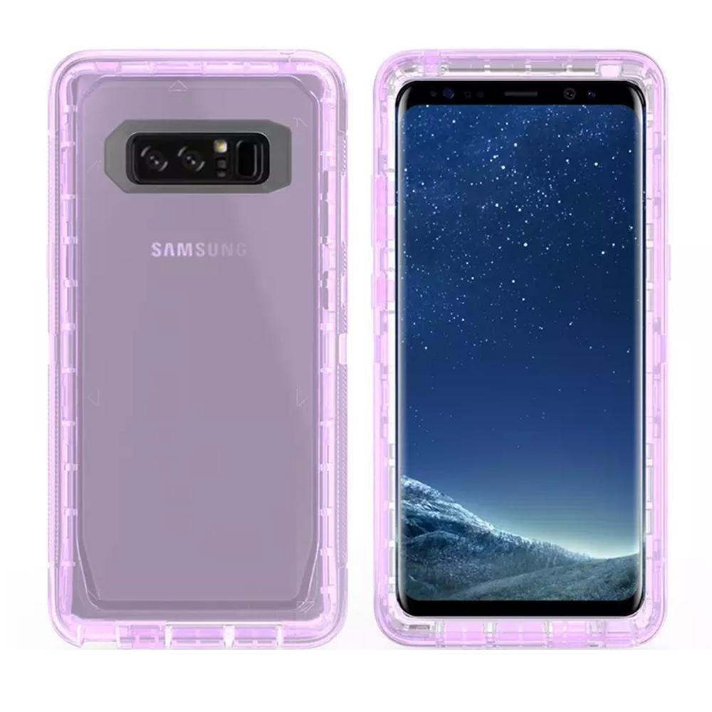 Samsung Galaxy Note 8 Transparent Defender Armor Hybrid Case by Modes