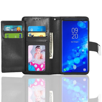 Samsung Galaxy Note 9 / N960 Double Flap Folio Leather Wallet Pouch Case by Modes