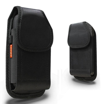 Samsung Galaxy S5 / 9600 Rugged Nylon Pouch - Fits Cell Phone With Case/Cover Black by Modes