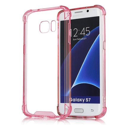 Samsung Galaxy S7 Edge Full Body Hybrid TPU Transparent Case by Modes