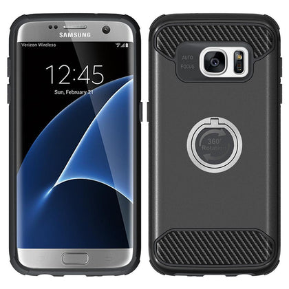 Samsung Galaxy S7 Edge Shockproof Hybrid 360Degree Ring Stand Case by Modes