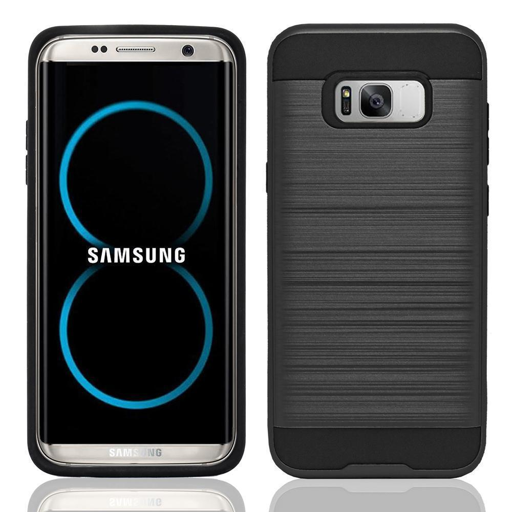 Samsung Galaxy S8 Hybrid Brushed Metal Shockproof Tough Case by Modes