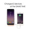 Samsung Galaxy S8 Plus / S8 Edge External Battery Case Backup Charger Power Bank 6500mAh Stand by Modes