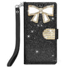 Samsung Galaxy S9 Diamond Bow Glitter Leather Wallet Case by Modes