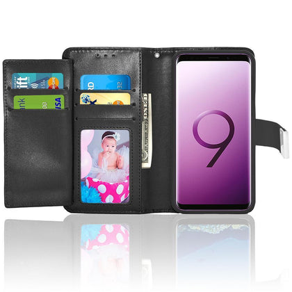 Samsung Galaxy S9 Double Flap Folio Leather Wallet Pouch Case by Modes