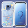 Samsung Galaxy S9 Marble Transparent Defender Armor Hybrid Case by Modes