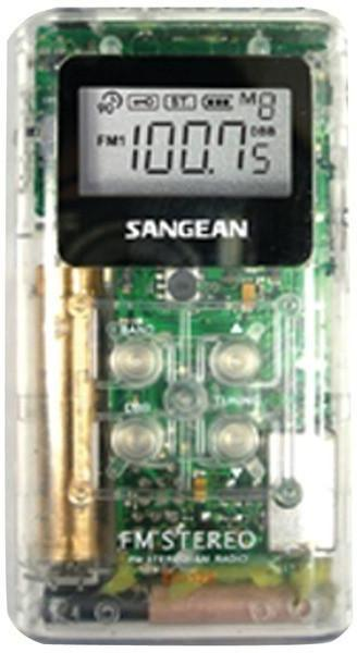 SANGEAN DT-120 CLEAR Pocket AM/FM Digital Radios (Clear)