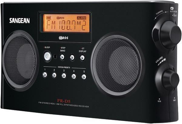 SANGEAN PR-D5-BK Digital Portable Stereo Receivers with AM/FM Radio (Black)