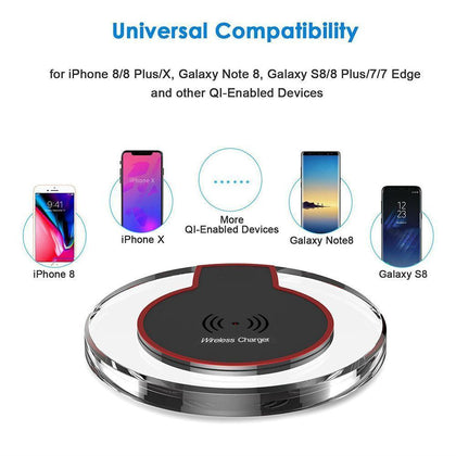 Universal Qi Mini Wireless Fast Charging 2000mAh With Micro USB by Modes