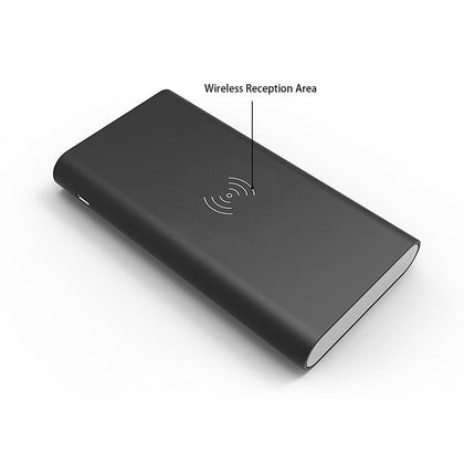 Universal Qi Wireless External Battery Backup Charger & Power Bank 10000Mah by Modes