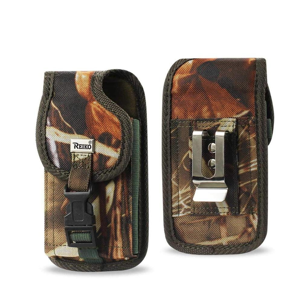Reiko Vertical Rugged Pouch iPhone 5 Plus-am32 with Velcro Buckle Clip Inner Size: 5.27x2.71x0.7inch