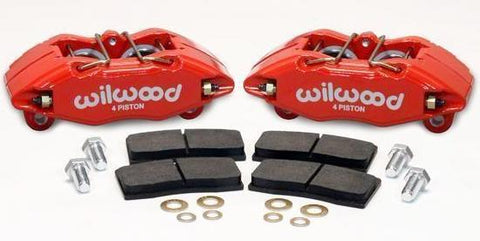 Wilwood Performance Brake Caliper Kit - DPHA Direct Fit for Honda Acura Civic Integra (Red & Black)
